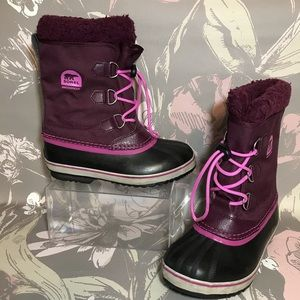 Sorel Pink Burgundy Waterproof Boots Sz 5 EU 37
